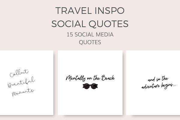 Travel Inspo Quotes 15 Images Creative Instagram Templates Creative Market