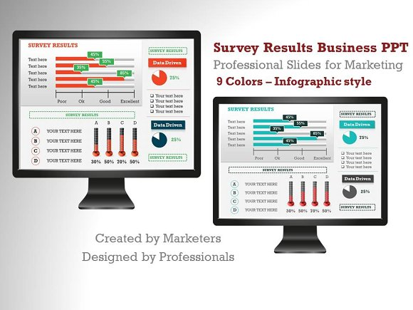 survey results infographic slides p1 presentation templates on
