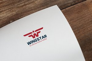 W Wings Letter Logo