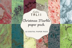 Christmas Marble Paper Pack