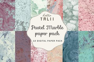 Pastel Marble Paper Pack