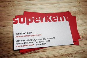 Large Type Business Card