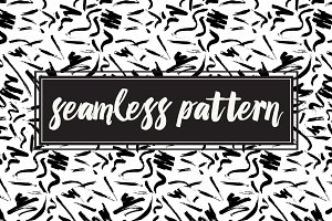 Seamless Art Brush Pattern