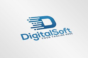 Digital Soft Logo Template