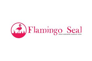 Flamingo Seal Logo Template