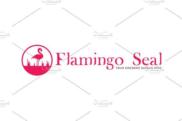 flamingo seal logo template logo templates creative market