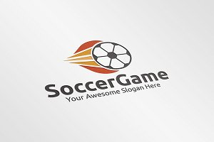 Soccer Game Logo Template