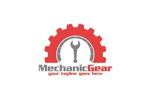 Mechanic Gear Logo Template