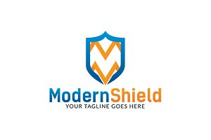 Modern Shield Logo Template
