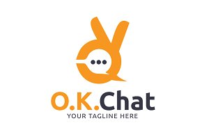 OK Chat Logo Template