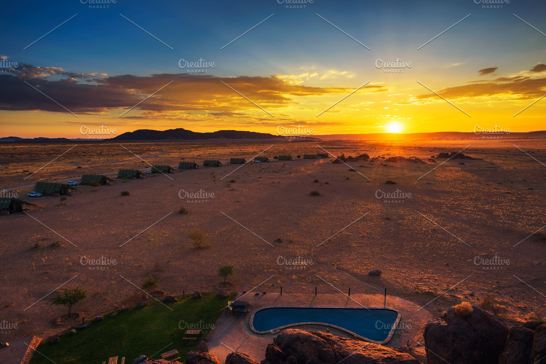 Sunset Above Namib Desert