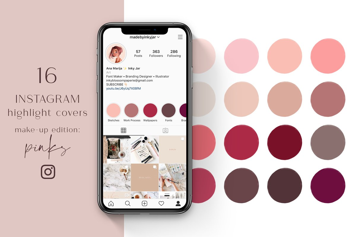 Instagram Highlight Covers-Pinks