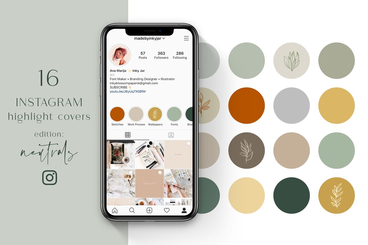 Instagram Highlight Covers-Neutrals