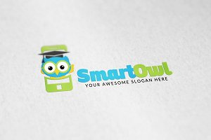 Smart Owl Logo Template