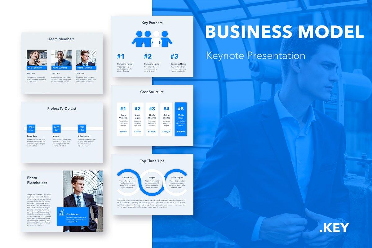 Business Model Keynote Template in Presentation Templates