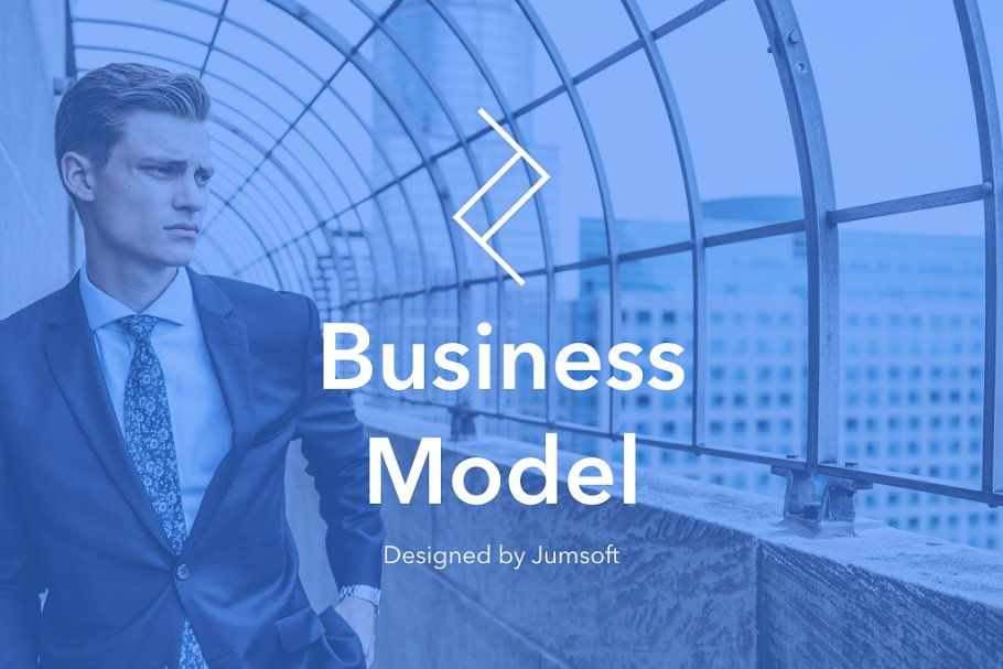 Business Model Keynote Template in Presentation Templates - product preview 1