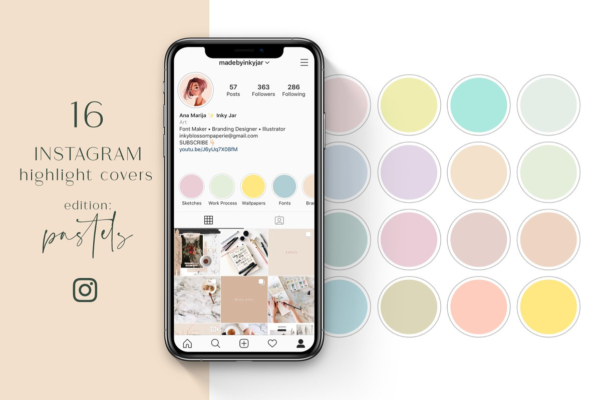 Instagram Highlight Covers-Pastels