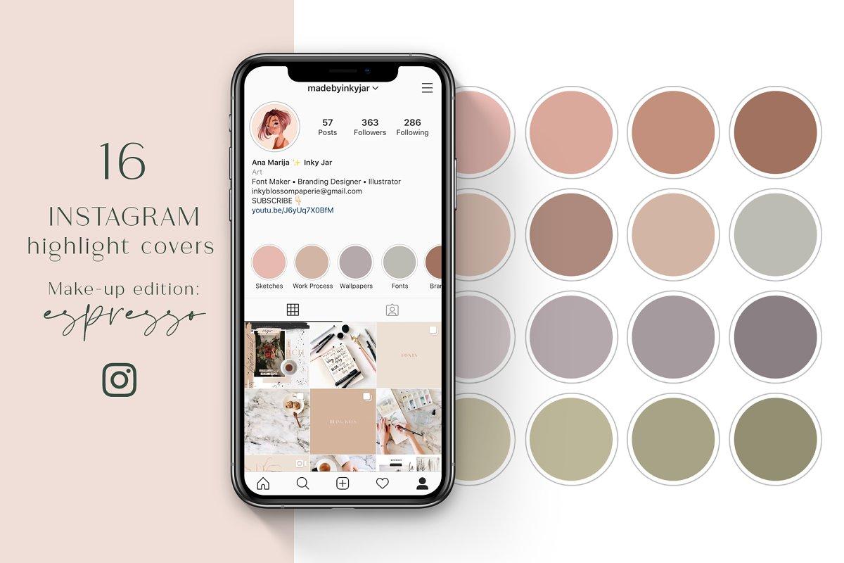 Instagram Highlight Covers-Espresso