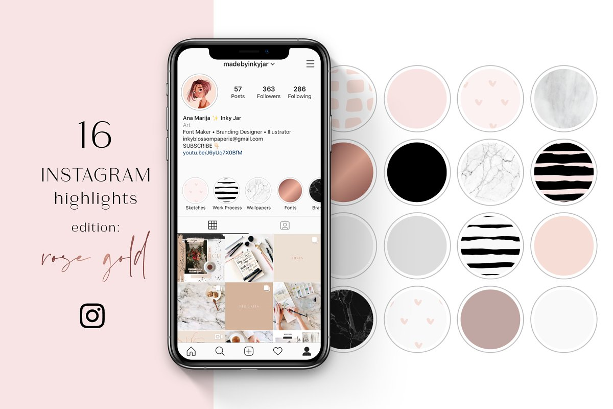 Instagram Highlight Covers-Rose Gold