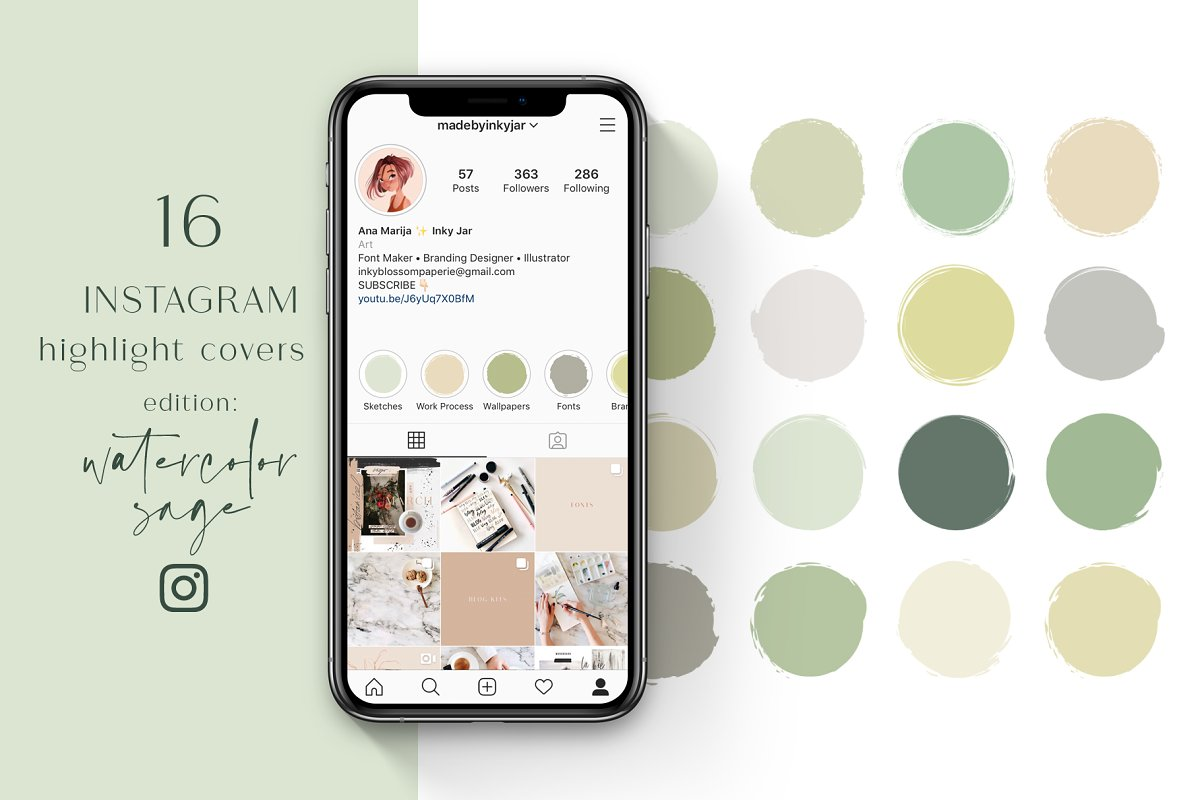 Instagram Highlight Covers-Sage