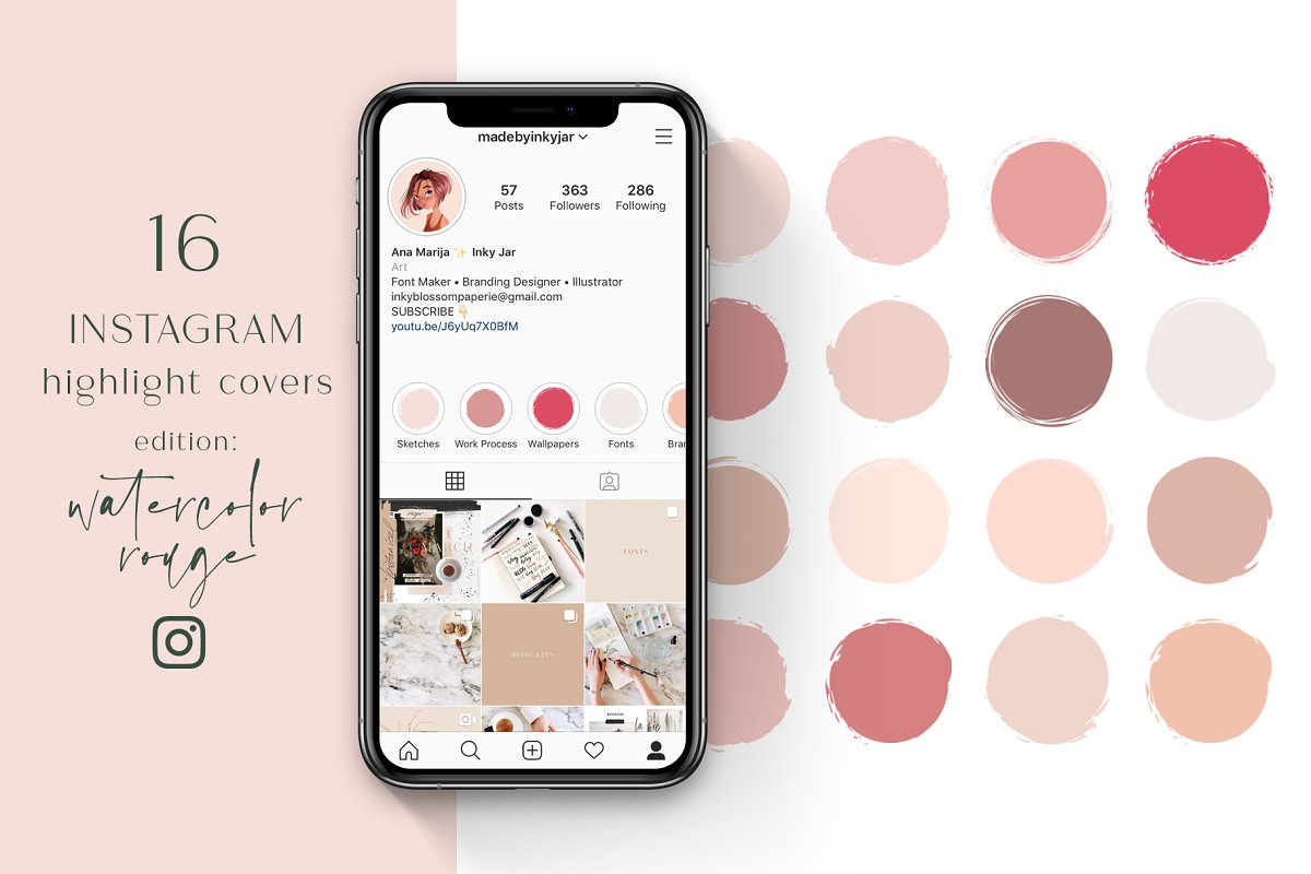 Instagram Highlight Covers-Rouge
