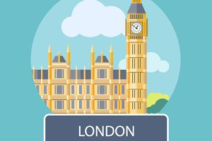 Big Ben, Westminster Bridge , London