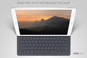 iPad Pro + Smart Keyboard Mockup