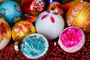 Christmas balls and Christmas tree o