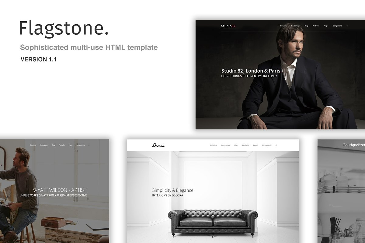 Flagstone - Multi-use HTML template