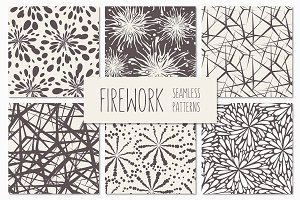 Firework. Seamless Patterns Set 2