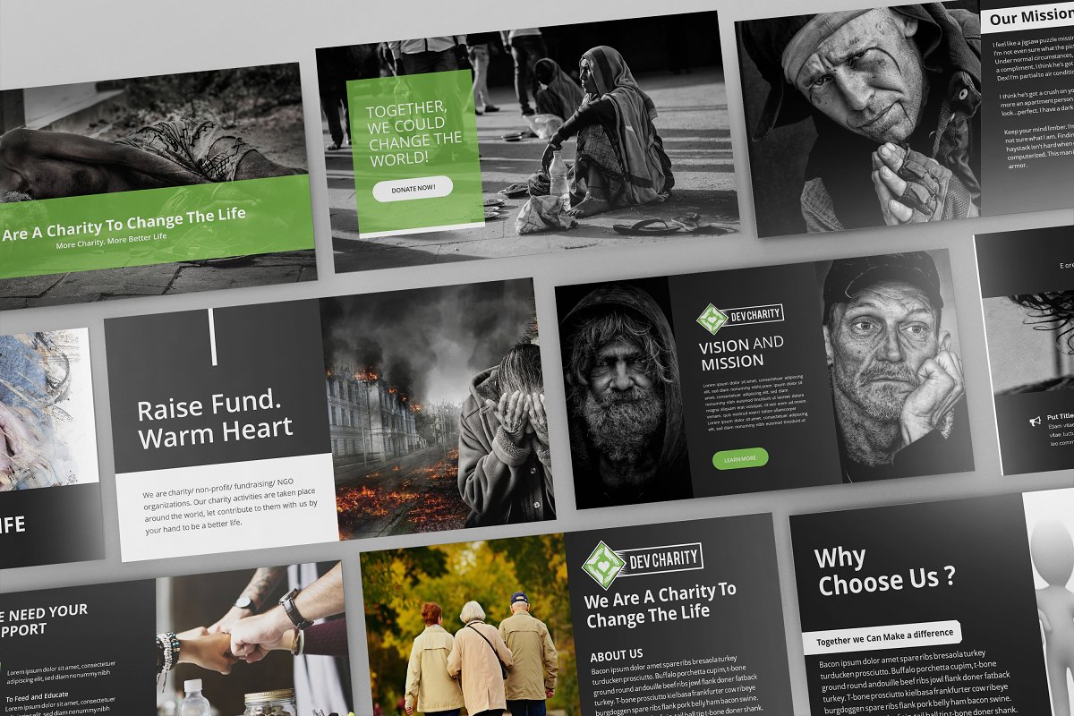 Dev Charity Presentation Template in Presentation Templates - product preview 1