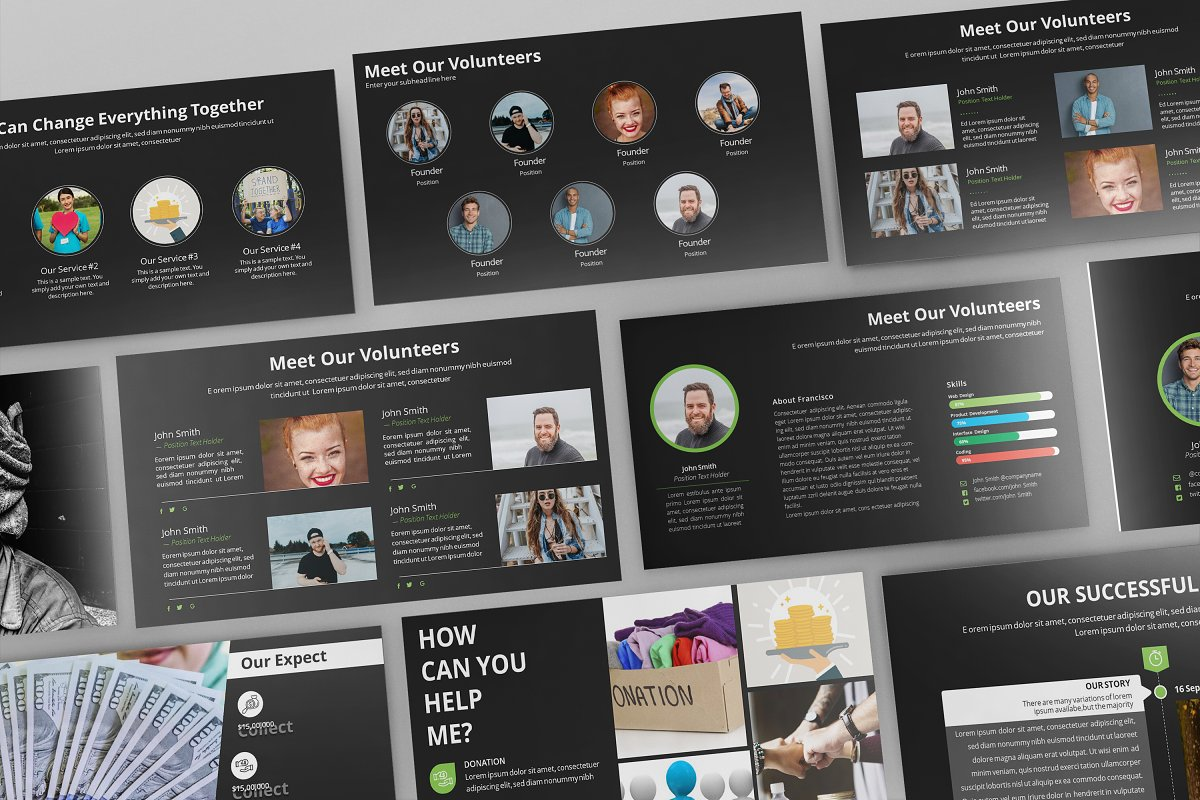Dev Charity Presentation Template in Presentation Templates - product preview 2