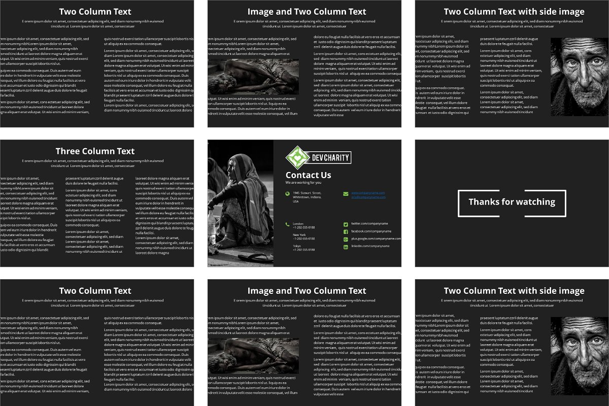 Dev Charity Presentation Template in Presentation Templates - product preview 3