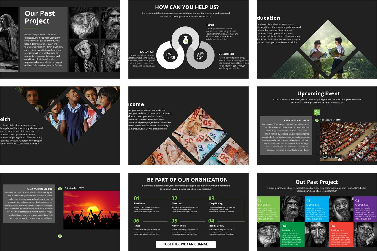Dev Charity Presentation Template in Presentation Templates - product preview 4