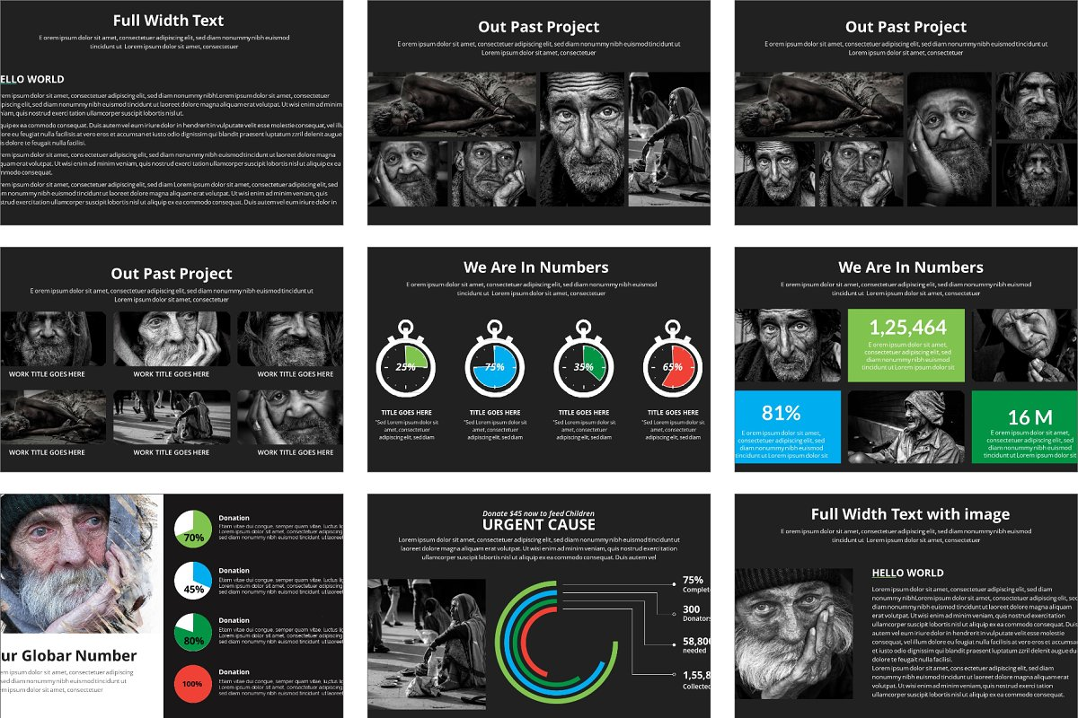 Dev Charity Presentation Template in Presentation Templates - product preview 5