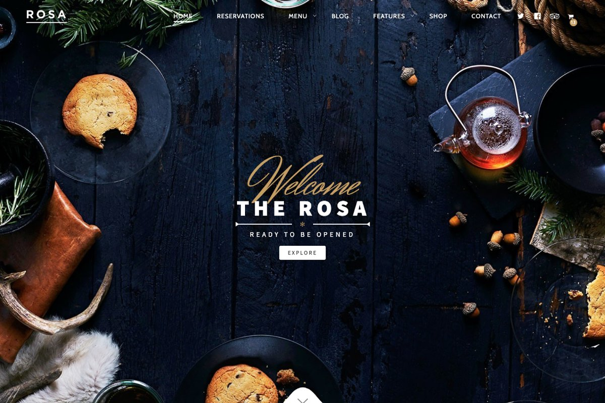ROSA - Restaurant WordPress Theme