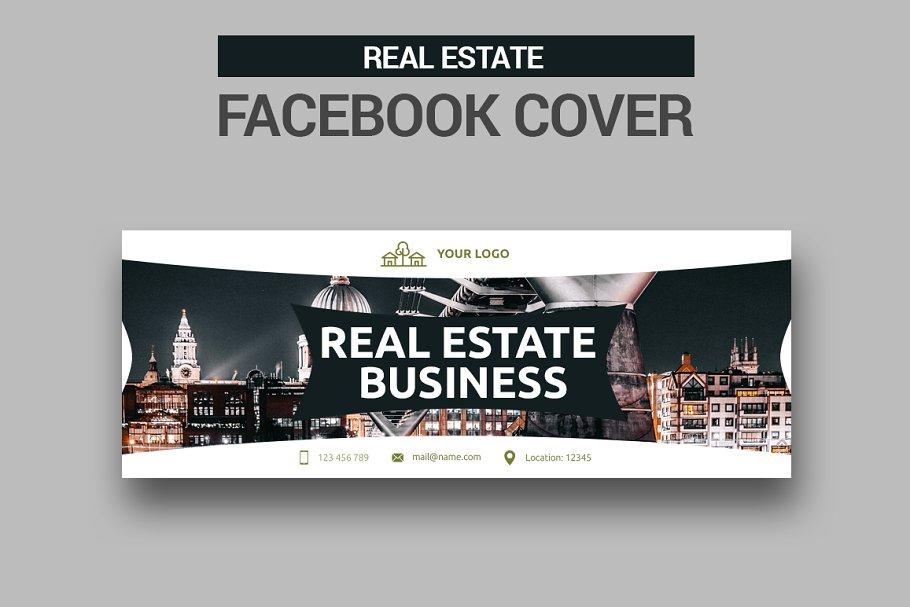 Real Estate -  Facebook Cover in Facebook Templates