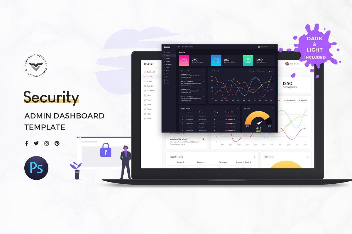 Security Admin Dashboard Ui Kit Creative Daddy