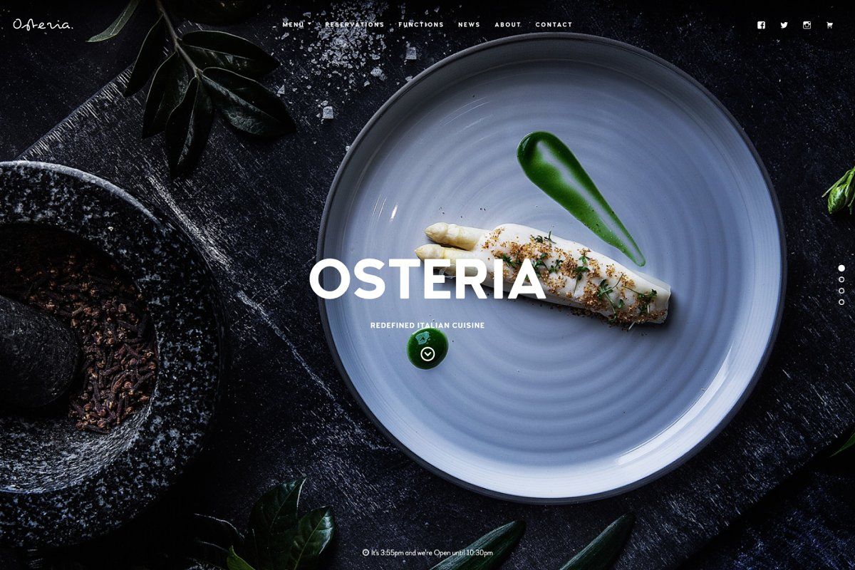 Osteria - Restaurant WordPress Theme