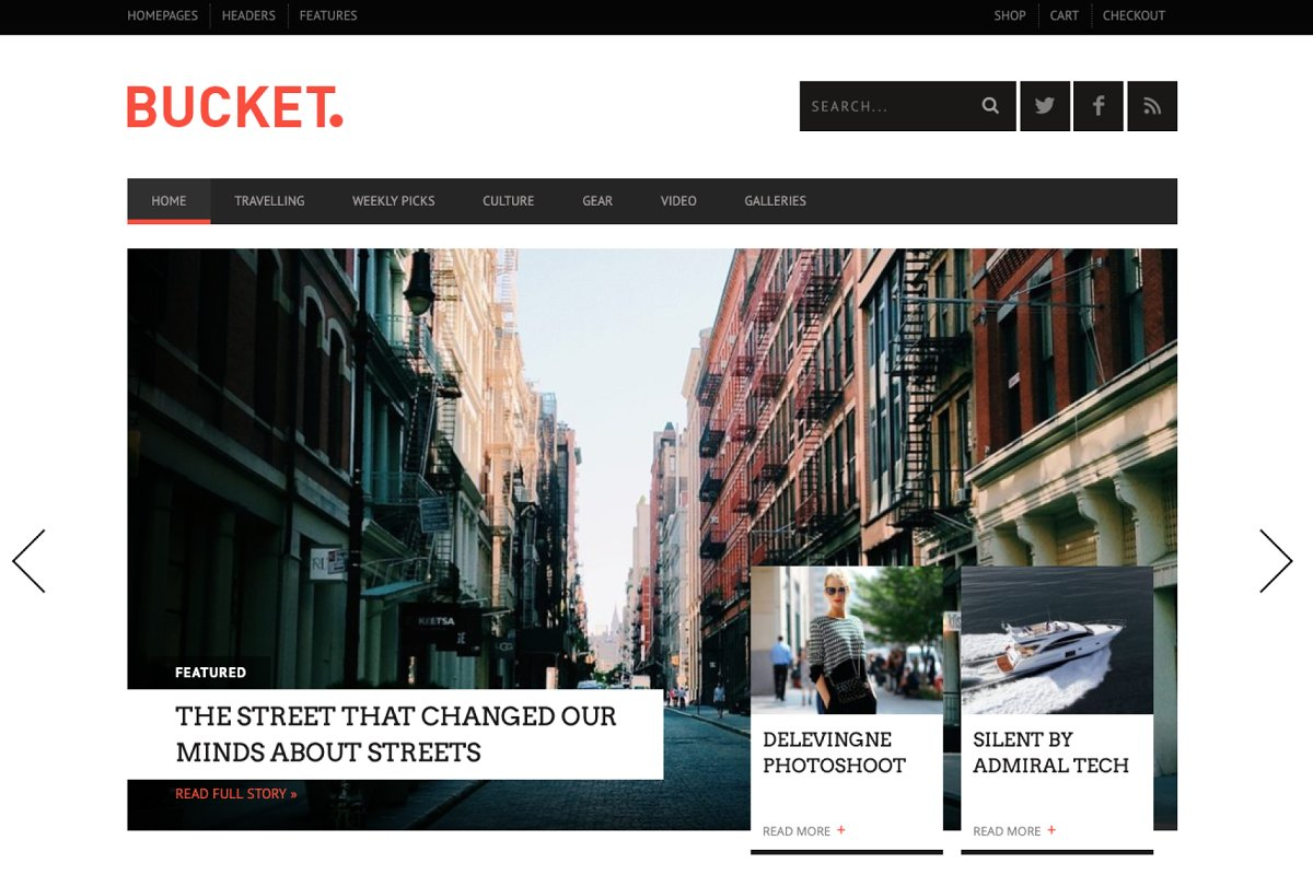 BUCKET - Magazine WordPress Theme