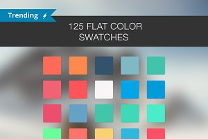125 Flat color Swatches