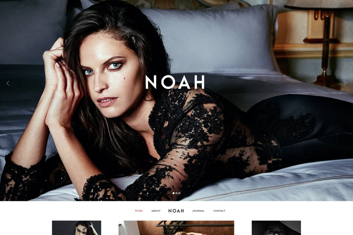 NOAH - Photography WordPress Theme