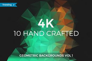 4K Geometric Backgrounds vol 1