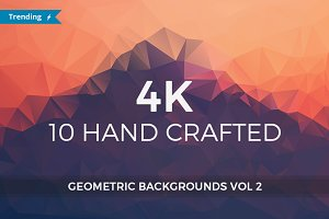 4K Geometric Backgrounds vol 2