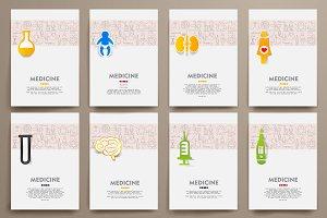 Medicine doodle templates.