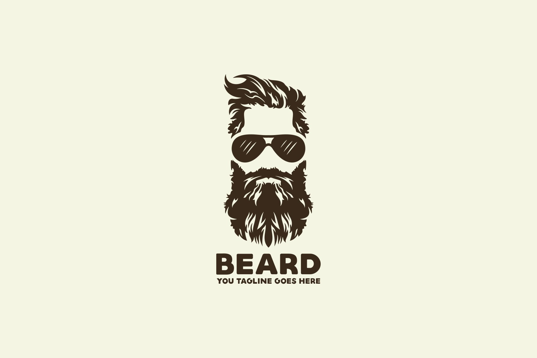 beard logo creative illustrator templates creative market beard logo