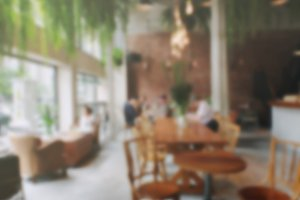 Abstract of blur cafe background