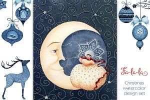 Fa-la-la Indigo Christmas Set