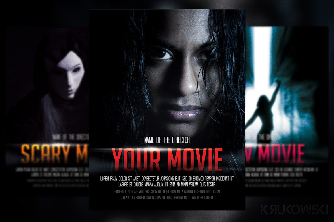 Movie Poster Flyer Template ~ Flyer Templates ~ Creative Market