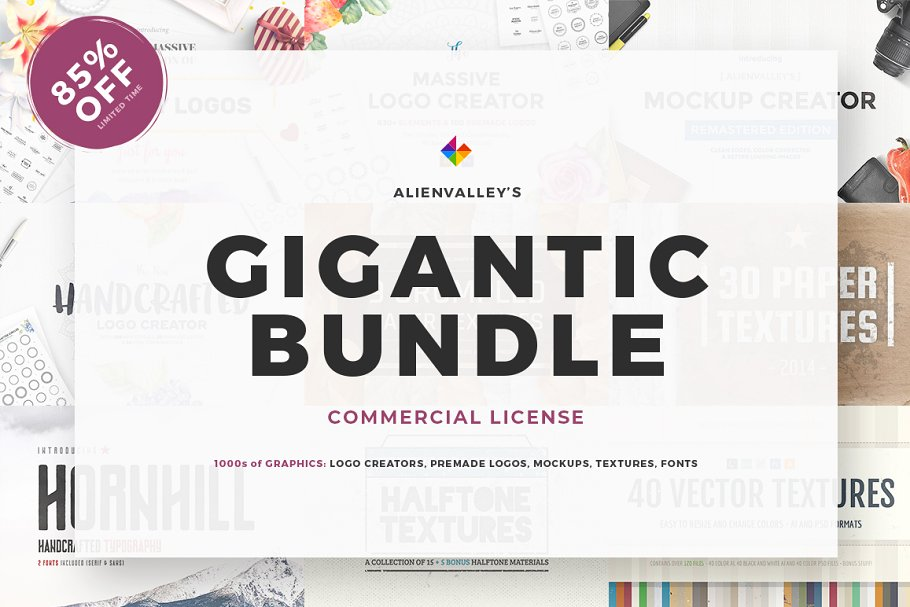 a11b512c6306 The Gigantic Bundle - 85% Off ~ Illustrations ~ Creative Market